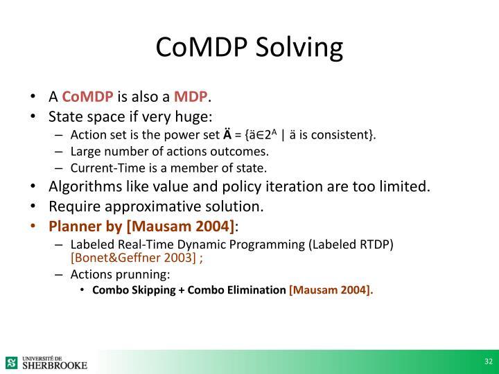 CoMDP Solving