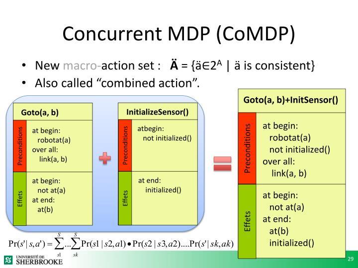 Concurrent MDP (