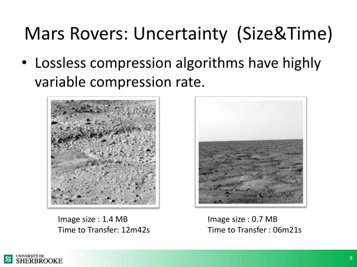 Mars Rovers: Uncertainty  (Size&Time)