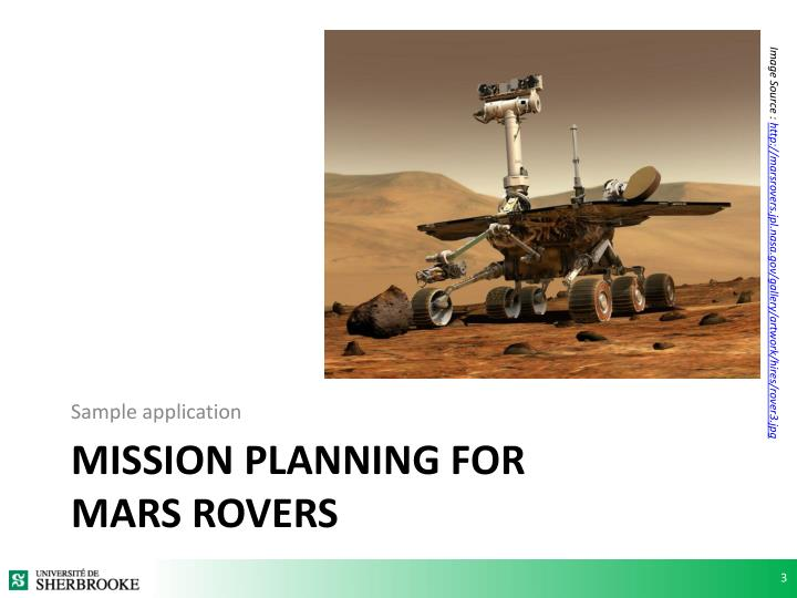 Mission planning for mars rovers
