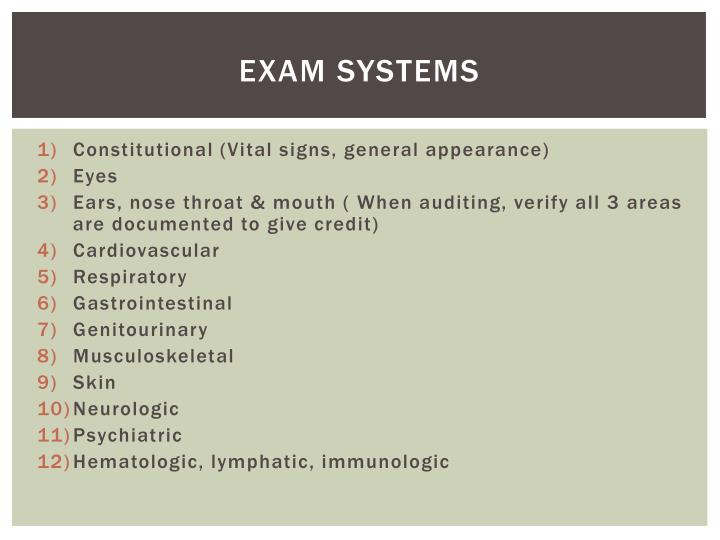 Exam Systems