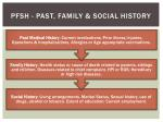pfsh past family social history