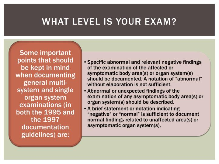 What level is your Exam?