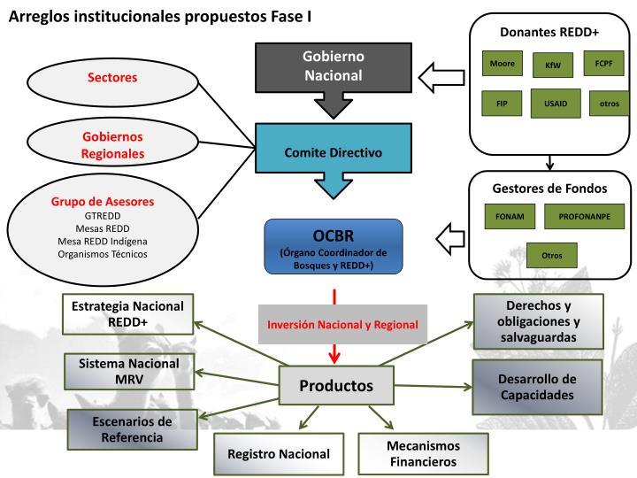 Arreglos institucionales propuestos Fase I
