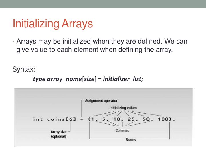 Initializing Arrays