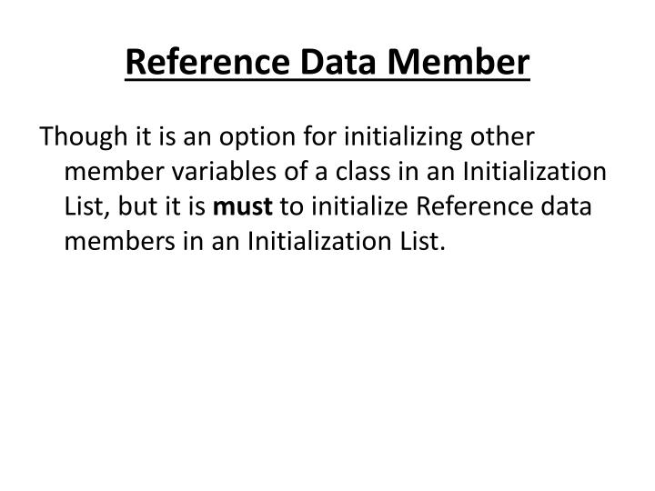 Reference Data Member