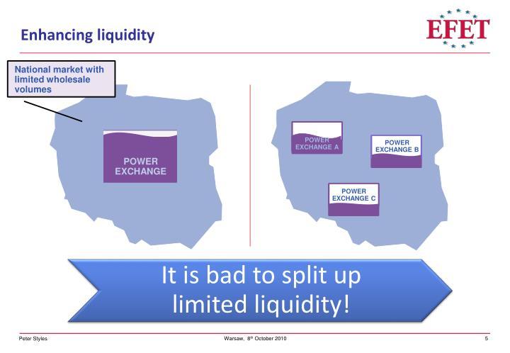 Enhancing liquidity