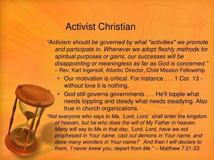 Activist Christian