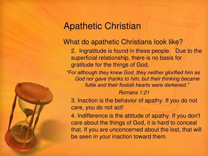 Apathetic Christian
