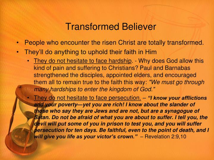 Transformed Believer