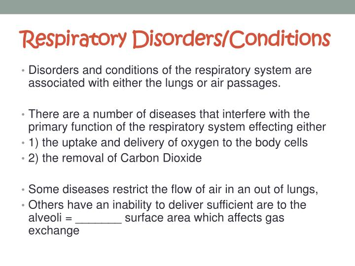 Respiratory disorders conditions