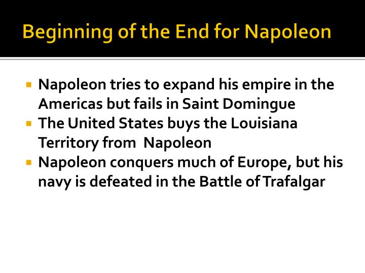 Beginning of the End for Napoleon