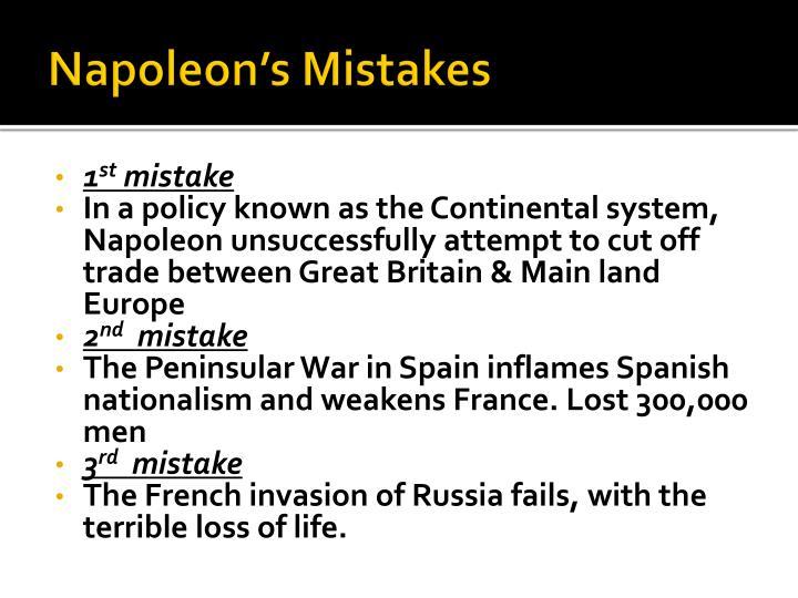 Napoleon's Mistakes