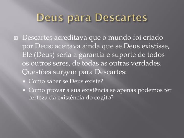 Deus para Descartes