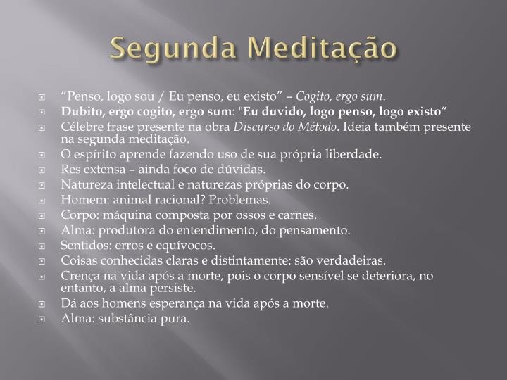 Segunda Meditação