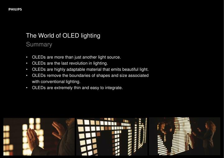 The World of OLED lighting