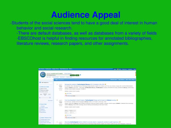 Audience Appeal