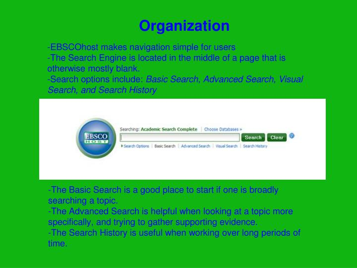 -EBSCOhost makes navigation simple for users