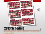 2013 schedule