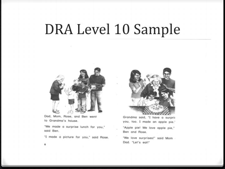 DRA Level 10 Sample