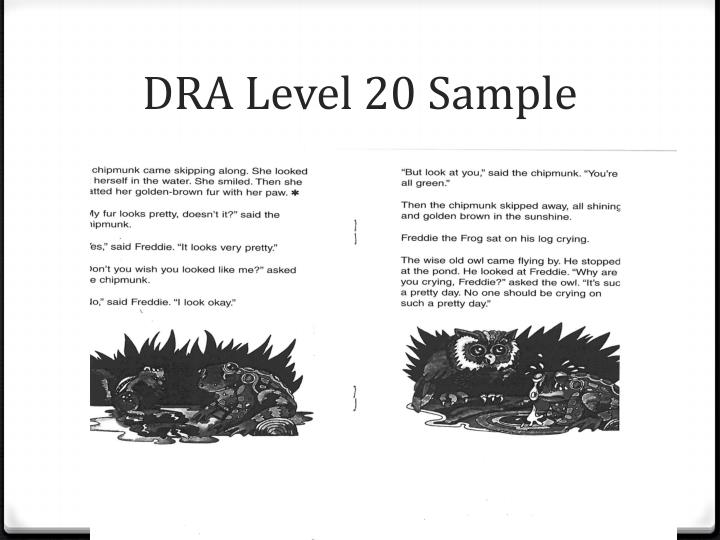 DRA Level 20 Sample