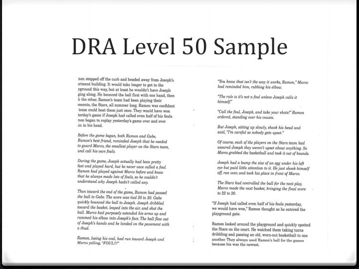 DRA Level 50 Sample