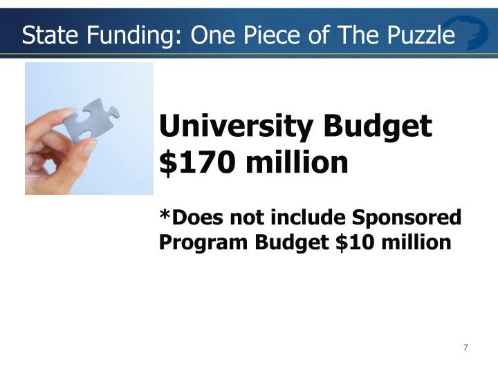 State Funding: One Piece of The Puzzle