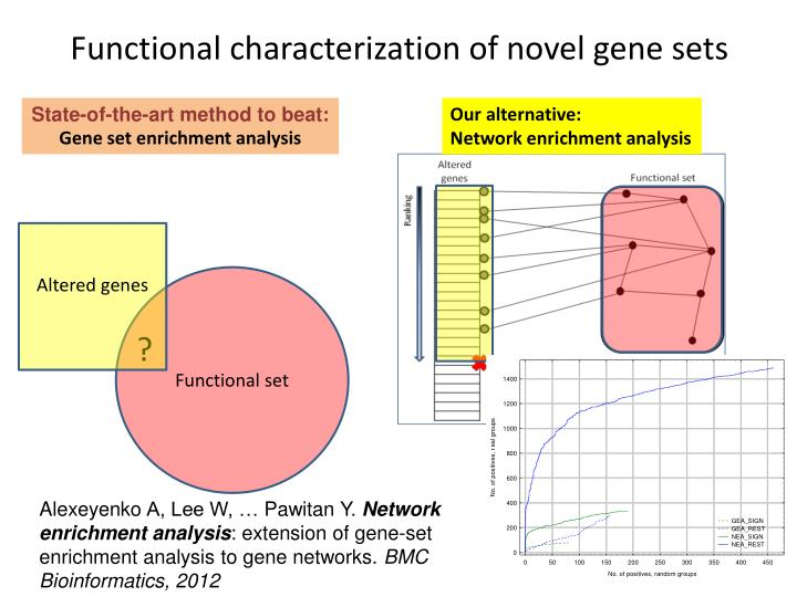 Functional characterization of novel gene sets