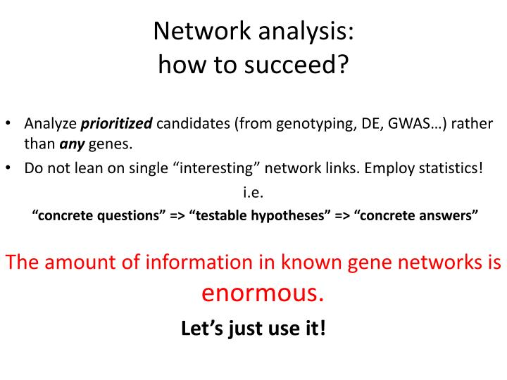 Network analysis: