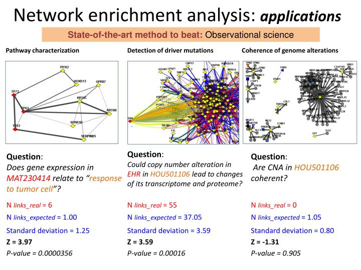 Network enrichment analysis: