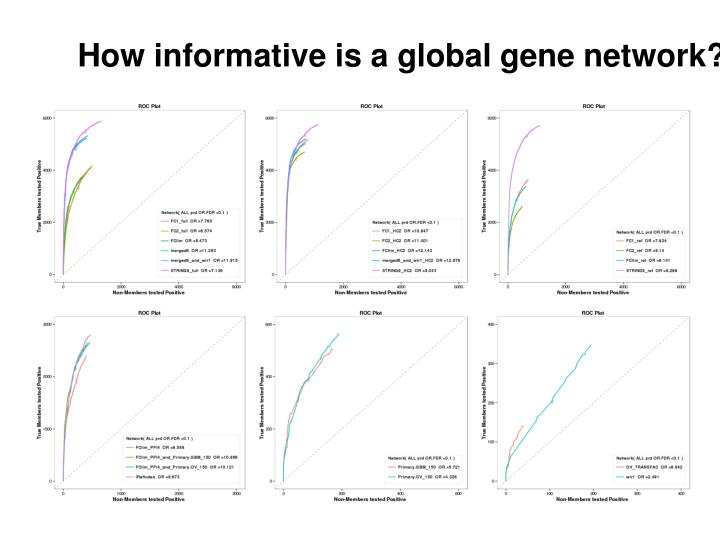 How informative is a global gene network?