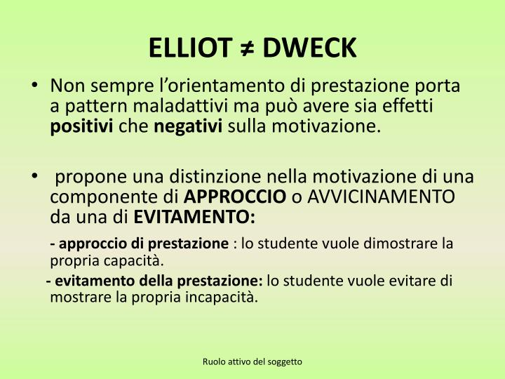 ELLIOT ≠ DWECK