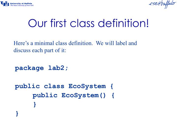 Our first class definition!