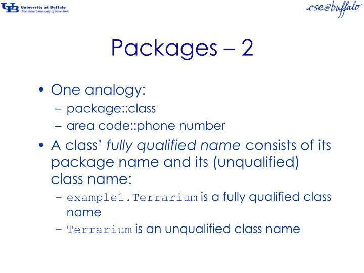 Packages – 2