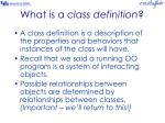 what is a class definition