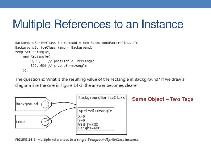 Multiple References to an Instance