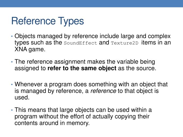 Reference Types