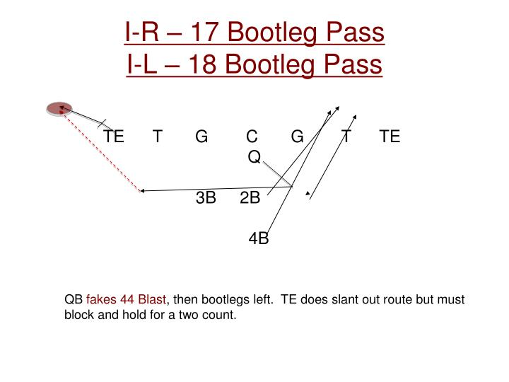 I-R – 17 Bootleg Pass