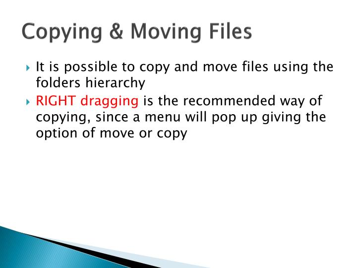 Copying & Moving Files