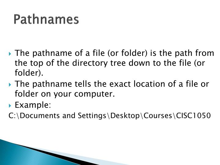 Pathnames