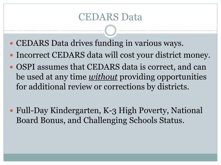 CEDARS Data