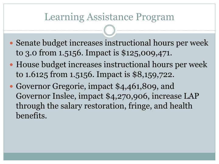 Learning Assistance Program