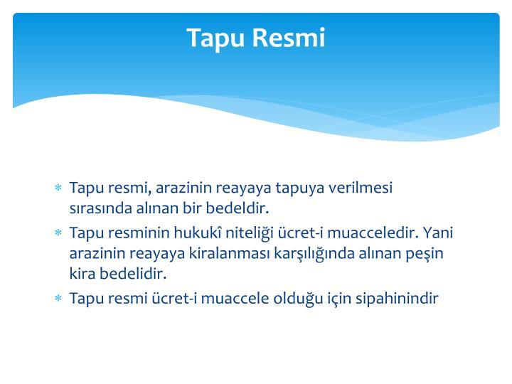 Tapu Resmi