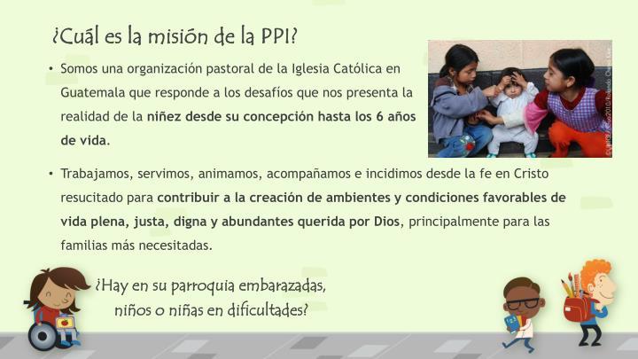 ¿Cuál es la misión de la PPI?