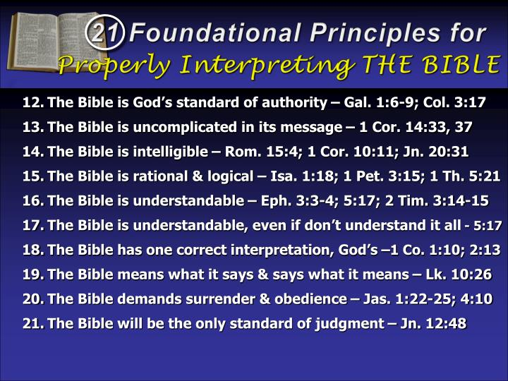 21 Foundational Principles for
