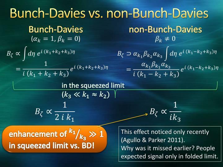 Bunch-Davies vs. non-Bunch-Davies
