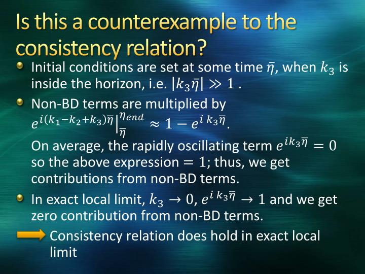 Is this a counterexample to the consistency relation?