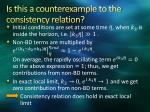 is this a counterexample to the consistency relation