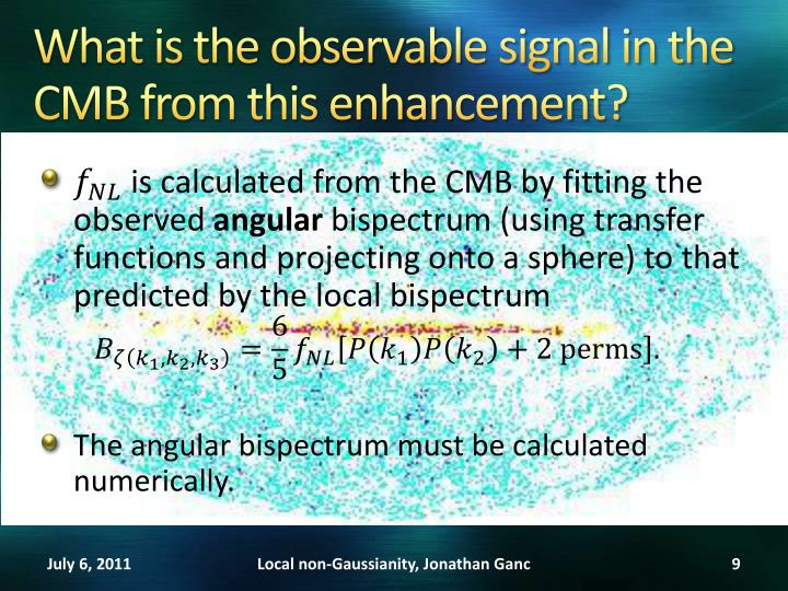 What is the observable signal in the CMB from this enhancement?
