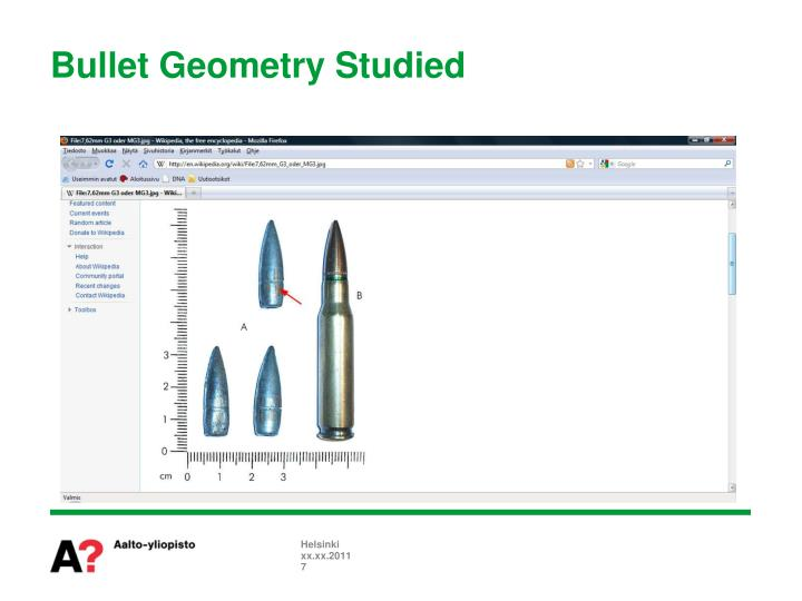 Bullet Geometry Studied